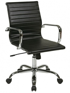 Delta Seating Black & Chrome Classic Desk Chair