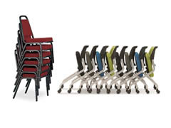 stacking and banquet chairs