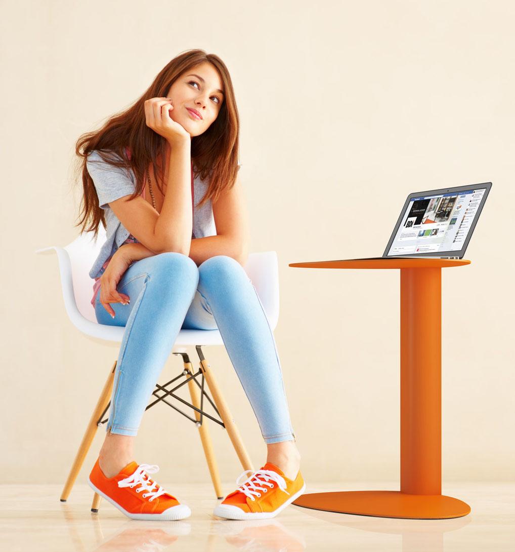 BDI Furniture BDI Bink Mobile Media Table - Bink mobile media table