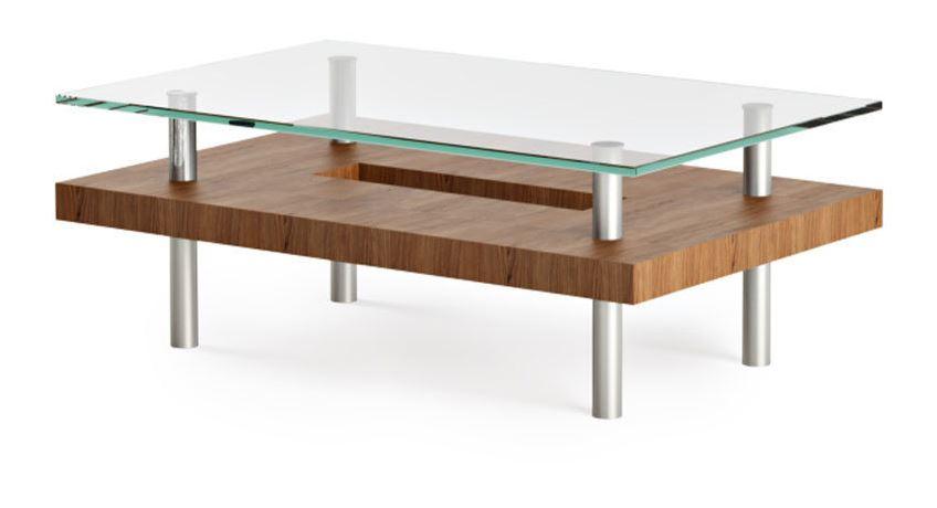 BDI Furniture BDI Hokkaido Small Rectangle Coffee Table Glass - Small oblong coffee table