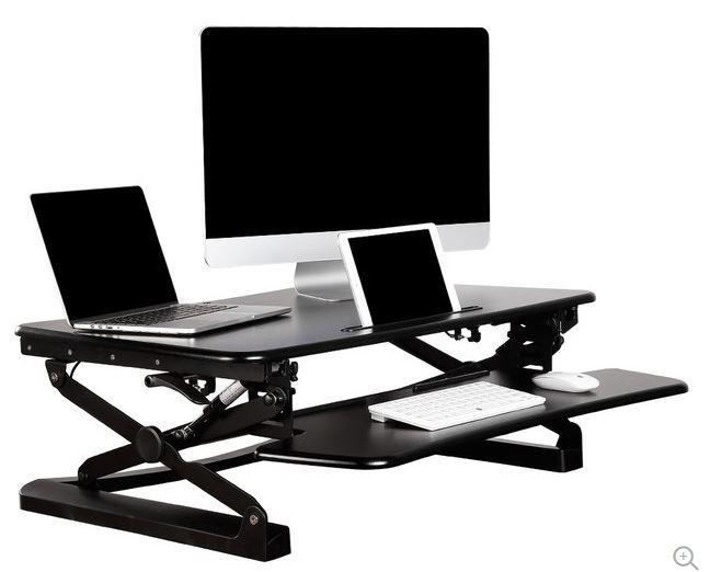 Ergo Metric Solutions Ems 35dtssblk Desktop Adjustable Sit