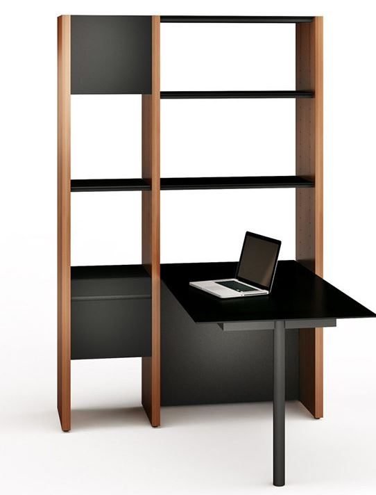 Bdi 5412 Pb Semblance Two Section Office System With Peninsula Desk