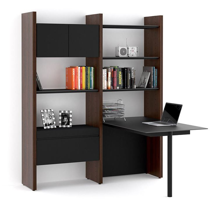 BDI 5412 PR Semblance Two Section Wide Office System With Peninsula Desk