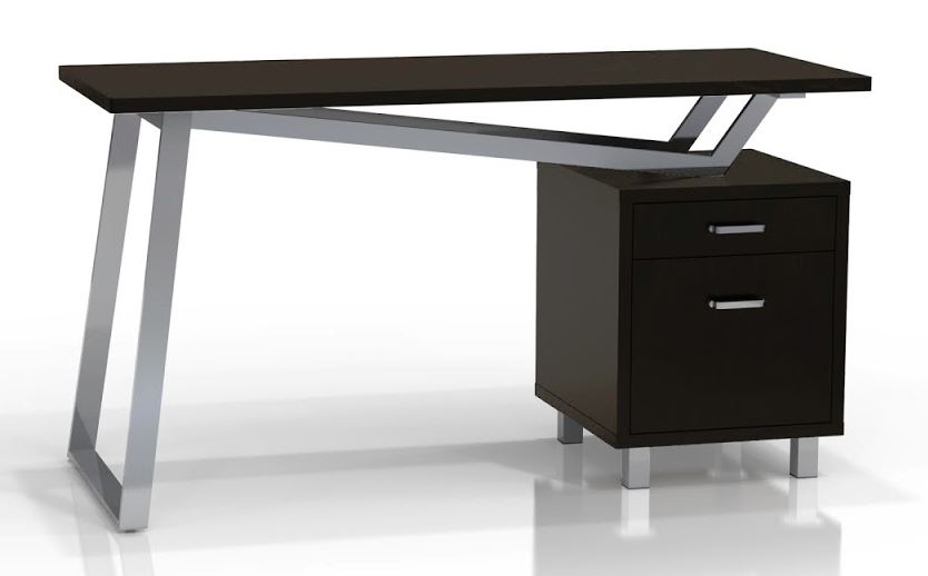 Small Home Office Systems SHO-9001BL Black Laminate Top- Metal Base ...