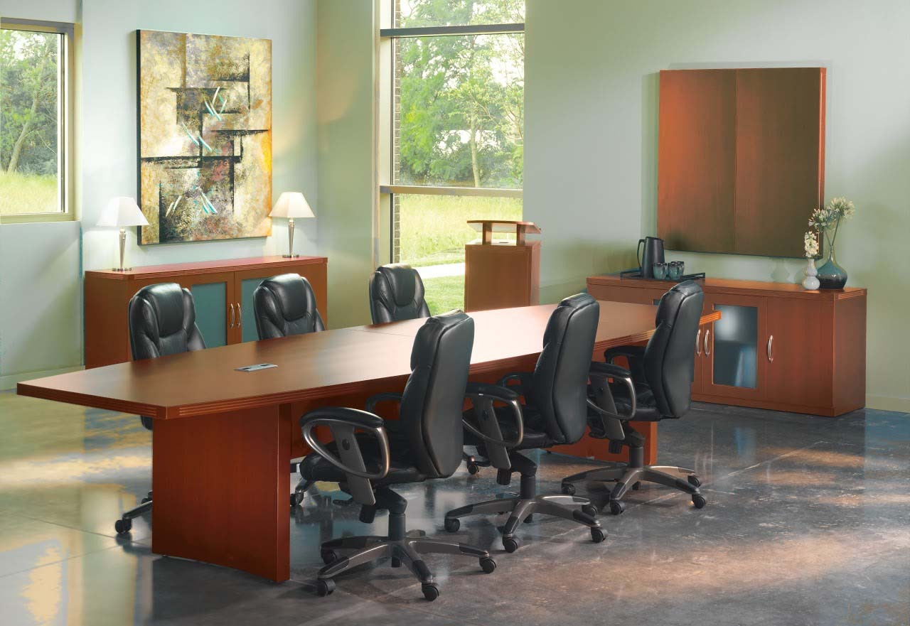 Aberdeen Foot BoatShaped Conference Table - 12 foot boat shaped conference table
