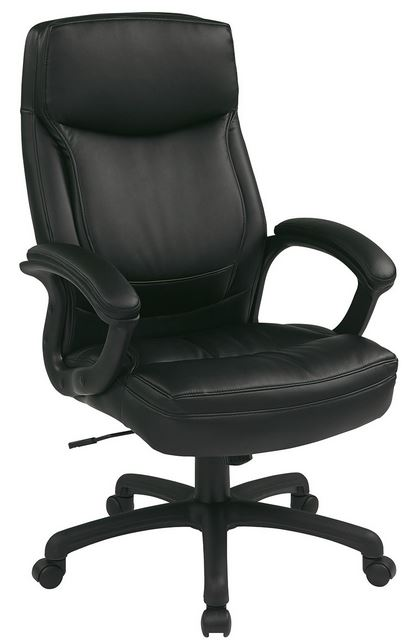 Delta Seating Dsc L385blk High Back Black Leather Office