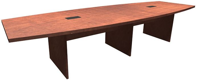 Express Office Furnishings EOFLPBS Premier Foot Expandable - 12 foot boat shaped conference table