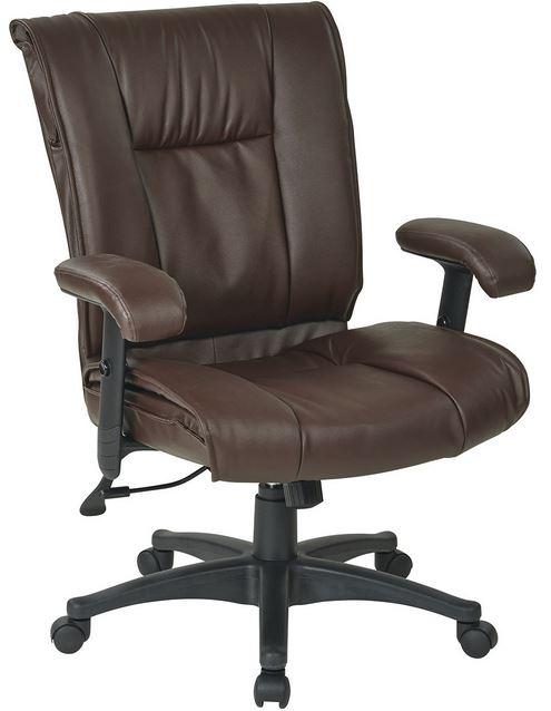 delta seating dsc lsc183bur mid back burgundy leather office desk chair
