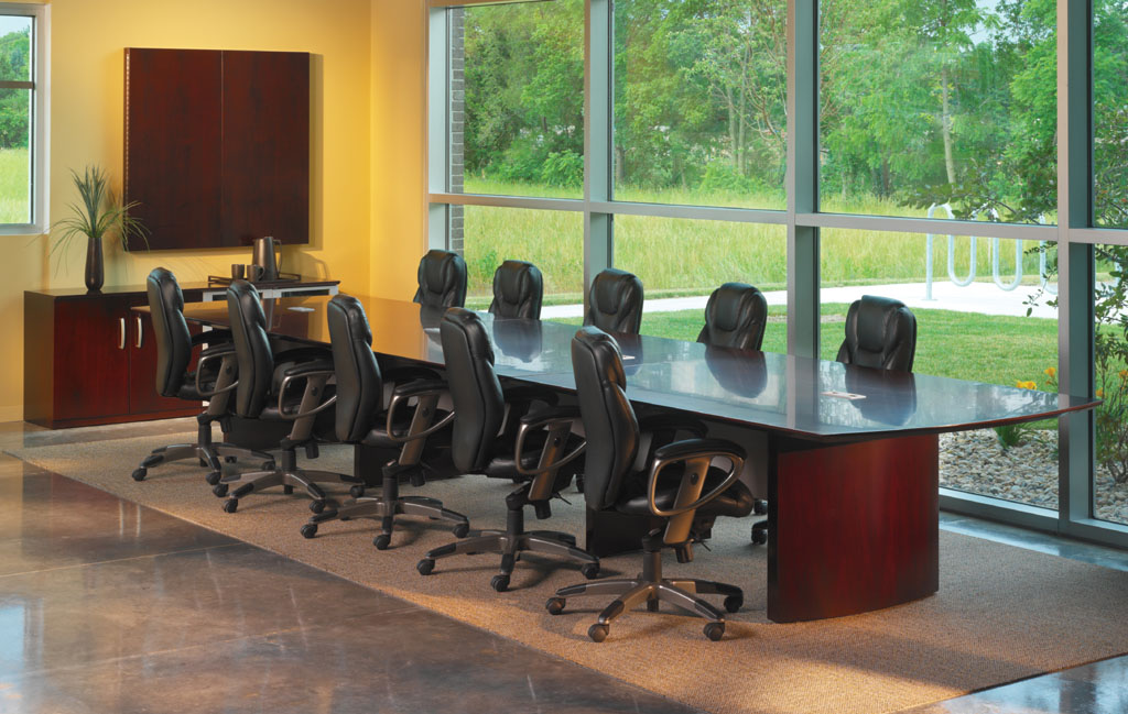Mayline May Nc12 Napoli 12 Foot Wood Conference Table