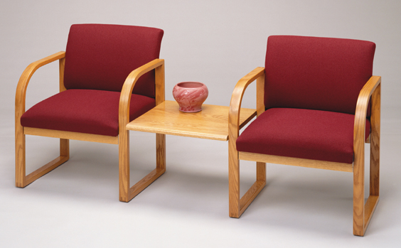 Lesro Lsr R2311g3 Contour Series 2 Chairs With Connecting
