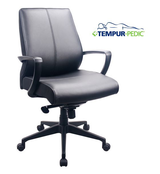 EUR-TP350 EUR-TP350 Tempur-Pedic Leather Midback Office Chair  sc 1 th 234 & Eurotech EUR-TP350 Tempur-Pedic Leather Midback Office Chair