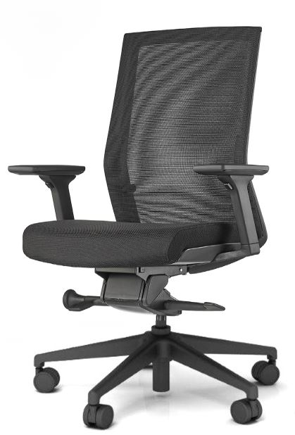 AMQ Solutions AMQ Z 004 Zilo Black Mesh Office Chair With