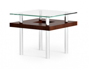 bdi furniture hokkaido end table glass u0026 wood