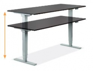 modern office systems pet2000 premium series electric height adjustable table